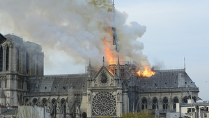 Notre-Dame ablaze on April 15, 2019.