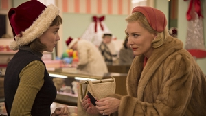 Carol, starring Rooney Mara and Cate Blanchett. The Todd Haynes-directed film was based on Patricia Highsmith's novel, The Price of Salt.