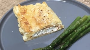 Paul Flynn's goat's cheese and chutney pie.