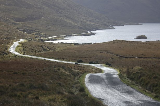 The road that runs through the Doolough Valley