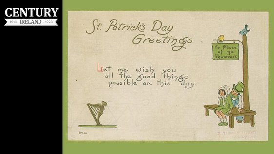 Century Ireland, Issue 200 - St Patrick's Day postcard from 1914. Photo: New York Public Library