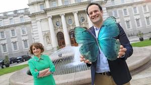Champion Green founder and Kilkenny Design CEO Marian O'Gorman pictured with Tánaiste Leo Varadkar
