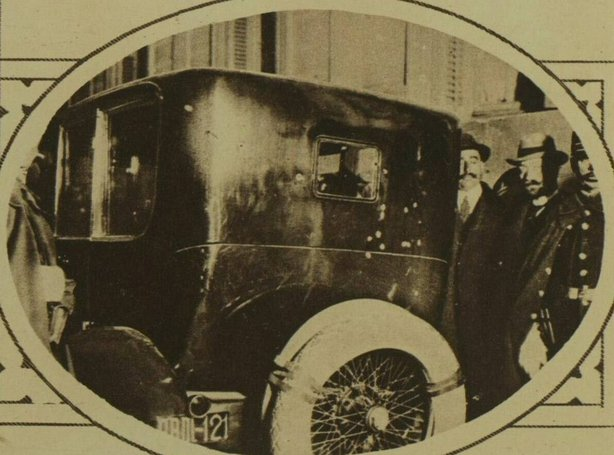The car in which Eduardo Dato was travelling Photo: Illustrated London News [London, England], 19 March 1921