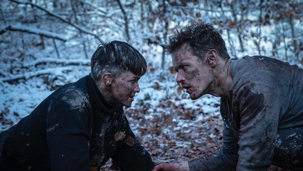 Ruby Rose and Sam Heughan in SAS: Red Notice