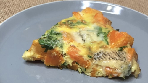 Eunice Power's frittata of butternut squash, spinach and gorgonzola.