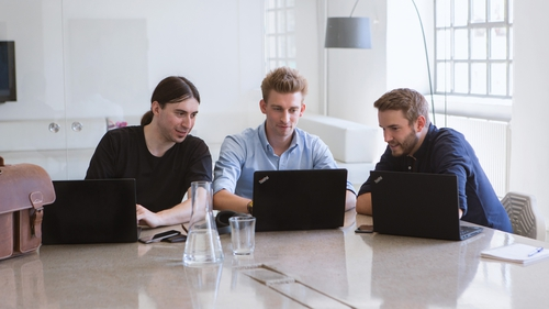 Refurbed founders, Jurgen Riedl, Kilian Kaminski, Peter Windischhofer