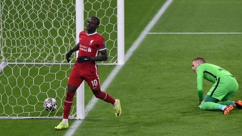Sadio Mane scores Liverpool's second