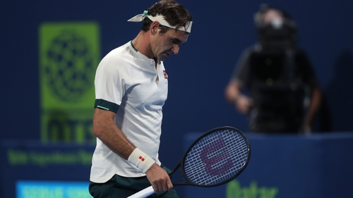 Roger Federer made a quarter-final exit in Qatar