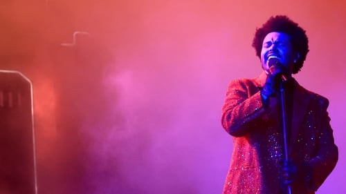 The Weeknd performing at the Super Bowl in February