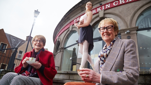 Sisters Pam Byrne and Carmel Sullivan, and ballerina Lydia Punch, announce the launch of Cork Cultural Companions