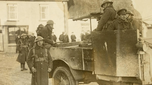 British soldiers and members of the Royal Irish Constabulary were targets for the West Cork IRA (Credit: National Library of Ireland)
