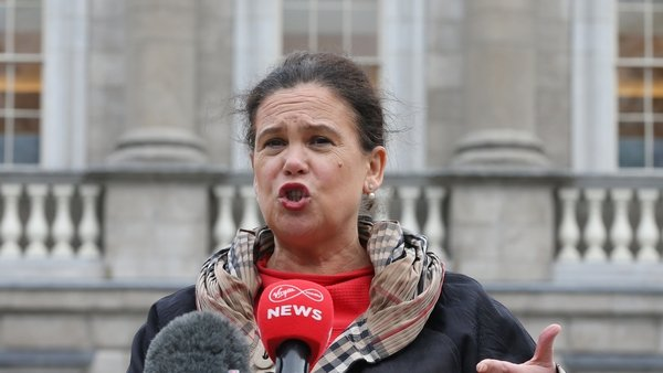 Mary Lou McDonald said it sent 'a very clear signal as to what the priorities of Boris Johnson are'