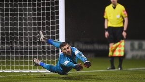 Alessio Abibi proved the hero for Dundalk in the penalty shoot-out