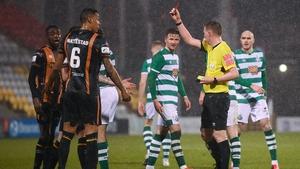 Sonni Nattestad was sent off against Shamrock Rovers