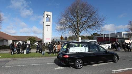 The funeral was attended by just tenpeople in accordance with Covid-19 restrictions (Pic: Rolling News.ie)