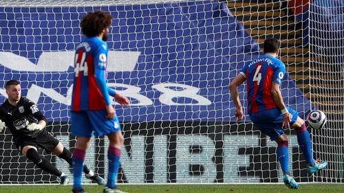 Luka Milivojevic scores his first goal of the season