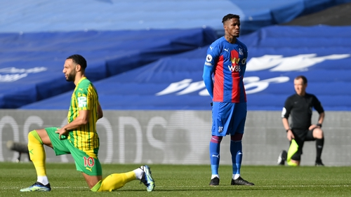 Wilfried Zaha became the first Premier League player not to take a knee in solidarity with the Black Lives Matter movement
