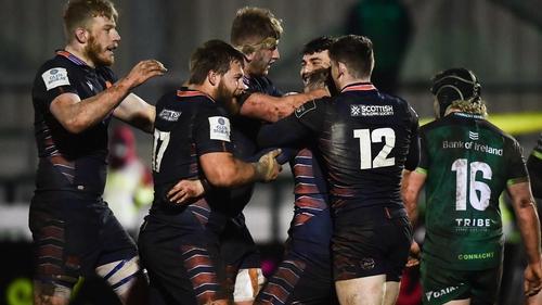 Edinburgh celebrate a late converted try