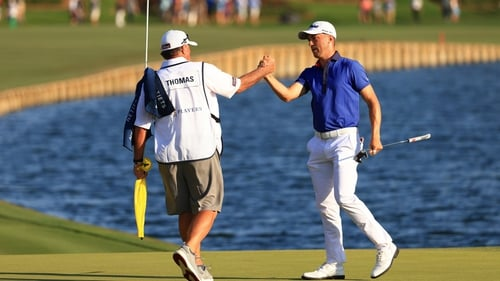 Justin Thomas was all-but assured of the title walking off 18