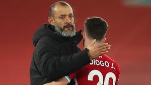 Nuno Espirito Santo welcomes Diogo Jota back to Molineux on Monday