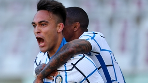 Lautaro Martinez scored Inter's winner against Torino