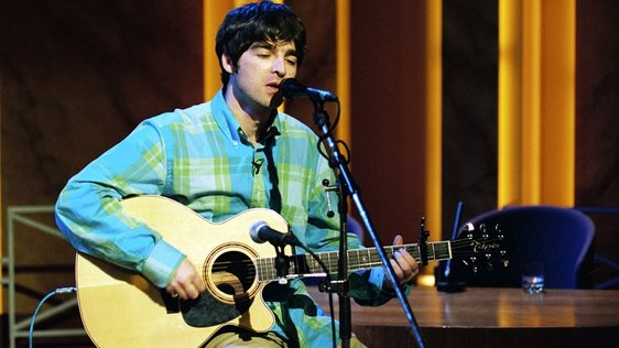 Noel Gallagher performing on The Late Late Show (1996)