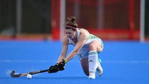 Roisin Upton during the SoftCo Series International Hockey match between Ireland and Great Britain