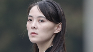 The remarks by Kim Yo Jong were reported bythe North Korean state news agency (file image)