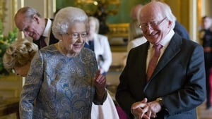 President Michael D Higgins pictured with Queen Elizabeth during his 2014 State visit to the UK