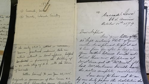 The letters will be scanned and put on a searchable database in the coming months.