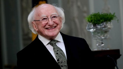 President Michael D Higgins said thatin years to come we will 'parade again and gather incelebration'