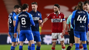 Alan Browne's sending off sparked anger on the Preston bench