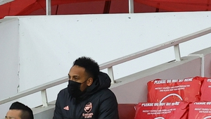 Aubameyang was an unused substitute for the North London derby