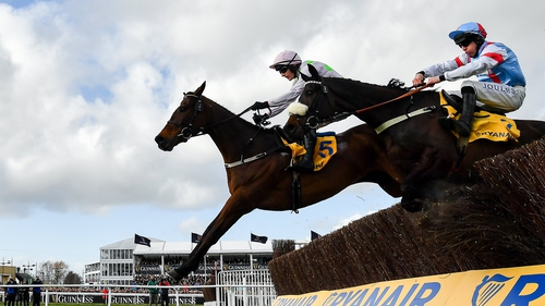 Can Saint Calvados (near side) deliver in the Ryanair Chase?