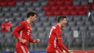 Robert Lewandowski fired home Bayern's first