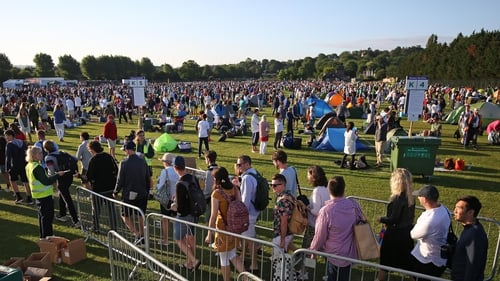 The scene in Wimbledon Park on the first day of the 2019 Championship