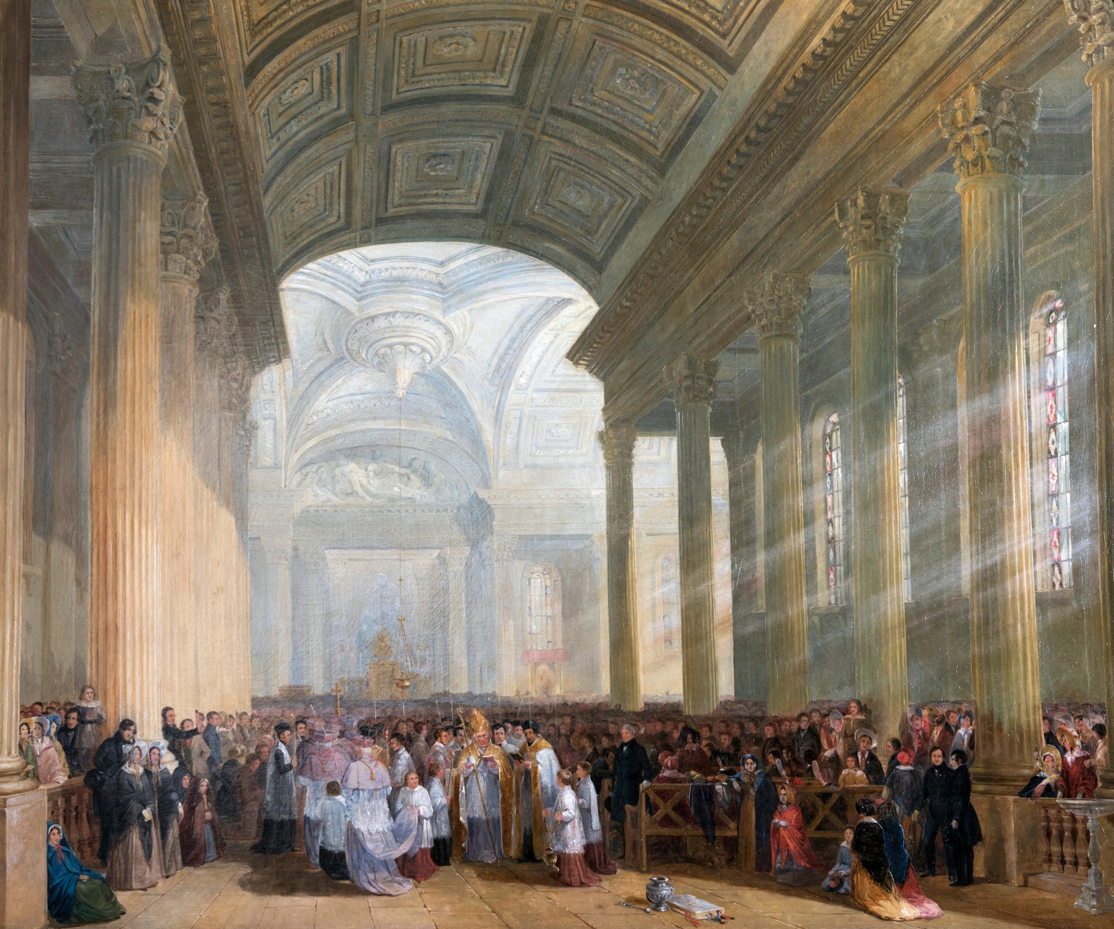 Image - The Consecration of the Roman Catholic Church of St. Mary's, Pope's Quay, Cork c. 1841 by James Mahony, ARHA, c.1810-79. Image courtesy of and copyright Ireland's Great Hunger Museum at Quinnipiac University