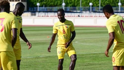 Naby Keita training with Guinea