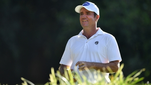 Australia's Scott Hend waits to play his tee shot on the 15th hole during the second round of the Magical Kenya Open