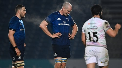 Devin Toner reacts to the defeat to Ospreys at the RDS