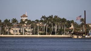 Former president Donald Trump's Mar-a-Lago resort where he resides