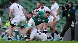 Jack Conan scores Ireland's second try