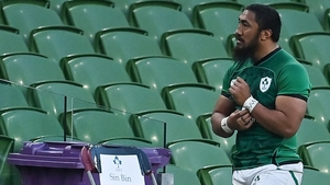 Bundee Aki became just the second Irish player ever to see red in the Six Nations
