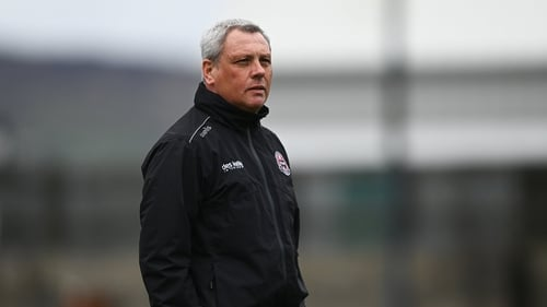 Bohemians manager Keith Long during the game at Finn Park