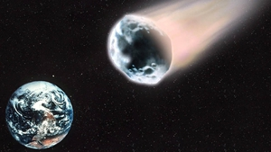 NASA says the asteroidwill pass by Earth at about 124,000 kilometres per hour (File pic)