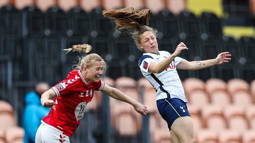 Bristol City's Jemma Purfield (left) and Tottenham Hotspur's Angela Addison