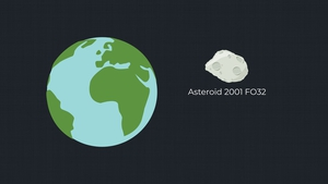 The asteroid was roughly five times as far away as the Moon is