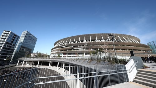 A view of the National Stadium in Tokyo