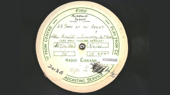 Microphone Parade: Nellie Bushell, The Abbey Theatre (1947), Acetate Disc Collection