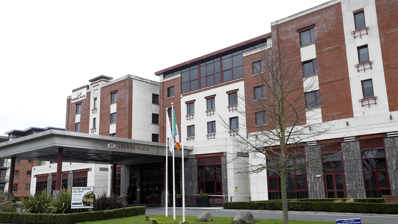 Three           people left mandatory quarantine at the Crowne Plaza Hotel